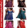 Ropa interior atractiva de la ropa interior de la perspectiva del cordón de los colores de las mujeres seises