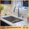 Controsoffitto bianco puro delle mattonelle del quarzo dei dispersori di cucina di bello disegno della cucina