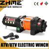 Torno eléctrico de poca potencia de UTV 12V 3500lbs 4X4 con la cuerda sintetizada