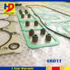 ディーゼル機関の部品のための6bd1t掘削機エンジン分解検査のガスケットキット