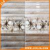 Azulejo de cerámica de la pared de la raya de madera del material de construcción con el precio bajo