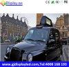 タクシーの上層のLED表示スクリーンの高い明るさ