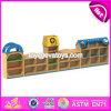 Muebles de madera W08c209 del almacenaje de los cabritos de la historieta de los muebles del almacenaje del juguete del jardín de la infancia de la alta calidad