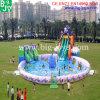 Parque de atracciones móvil del agua, parque inflable de la piscina de la diapositiva de agua del pulpo