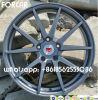 L'alliage 18 d'aluminium noir borde des roues de Vossen de reproduction