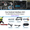 1080P DVR Android Navigation Box Video Interface Work on Mmi 3G Audi