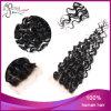 Fechamento brasileiro Curly Kinky do laço do cabelo do Virgin