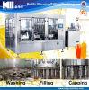 Máquina de enchimento quente do suco de fruta no animal de estimação e nos frascos de vidro