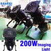 luz de la proyección de imagen del efecto de 200W LED