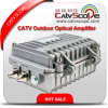 CATVの2wayによって出力される屋外の中継線光学アンプ