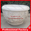 Flowerpot & vaso de pedra, Flowerpot do jardim & vaso, cinzeladura de mármore