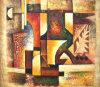 Het met de hand gemaakte Beroemde Abstracte Olieverfschilderij van het Canvas (links-313000)