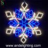 Decoração do Xmas de Lightsfor do motivo do floco de neve do diodo emissor de luz do preço de fábrica