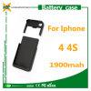 chargeur 1900mAh pour l'iPhone 4 couleurs de l'affaire de batterie 4s cinq