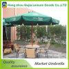 Polos de madera paraguas de jardín plegable con sistema de polea