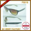 Le modèle de l'Italie a imité les lunettes de soleil en bois avec l'aperçu gratuit (F6818)