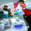 カスタムプリントスーパーマーケットのためのロゴのプラスチックTシャツ袋