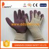 Перчатки связанные пряжей раковины T/C латекса работая Dkl330