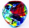 Vaas van de Lijst van het Glas van Murano de Kleurrijke