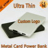 Chargeur de téléphone de logo de fabrication/côté faits sur commande 4000mAh pouvoir de carte