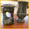 Vase en forme de fleur de granit Vase / Vase de pierres tombales pour funéraire
