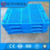 Pálete azul do plástico do HDPE do armazenamento do armazém da cor