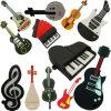 Mecanismo impulsor del flash de la memoria del USB del micrófono del piano de la guitarra de los instrumentos musicales del PVC