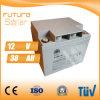 Gris de la batería recargable del panel solar de la batería de plomo 12V 38ah de Futuresolar