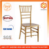 El policarbonato Resin Chiavari Chair Golpea-Down en Gold Color