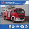 Vrachtwagen van de Brand van de Tank van het Schuim van het Water van het Poeder van Sinotruk 6*4 de Droge