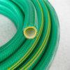 Boyau tressé anti-torsion de PVC de couleur verte de Trensparent
