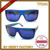 Óculos de sol projetados clássicos da forma Tr90 da parte superior Tr040 lisa