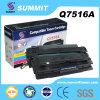 Compatible popular para el cartucho de toner de la impresora laser de Q7516A