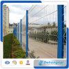 カスタマイズされた証明されたPVC上塗を施してある曲線の溶接された鋼線の網の塀