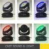 36PCS 광속 6in1 LED 급상승을%s 가진 이동하는 맨 위 세척 빛