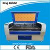 Máquina de gravura de alta velocidade do laser do dobro para o couro