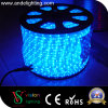 Éclairage LED bleu 13mm mince transparent de corde de tube