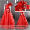 Vestido de partido do único ombro/vestido de noite vermelhos (L-52)