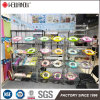 4 Tiers Inclined Chrome Display Wire Shelving Rack na Canton Fair Exhibition