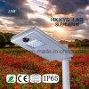 15W LEIDENE van de Sensor van de motie de Geïntegreerde Straatlantaarn van Solra