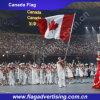 Fornitore di bandiera nazionale su ordinazione del poliestere, bandierina della mano, bandierina del Canada
