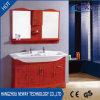 新しい木の床の二重洗面器との永続的な浴室の流しの虚栄心
