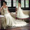 Vestido de casamento nupcial de maternidade elegante Chiffon Strapless (A09)