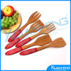 Spoon de bambú con Silicone Handle para Red Color