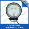 27W impermeabile LED Work Light, Auto Round LED Driving Light