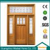 Craftsman Puerta principal de madera con vidrio para Villa Proyecto