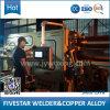 Máquina de soldadura automática cheia elétrica da emenda de 3 fases para o cilindro de petróleo de aço galvanizado sem soldadura de ponto