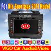 navigation du lecteur DVD GPS de voiture de 7 '' HD pour KIA Sportage
