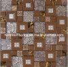 Mattonelle della parete, mosaico di vetro del metallo dell'acciaio inossidabile della miscela (SM204)