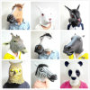 0045-Latex Rubber Black Horse Animal Head Mask Costume Theatre Prop novidade Halloween